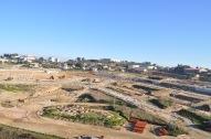 Vista general del estado de las obras de urbanización